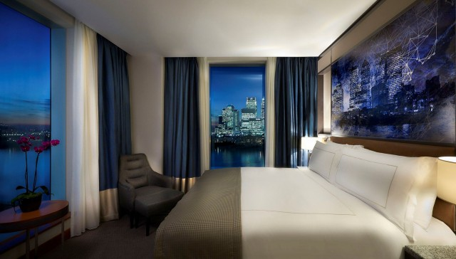 A deluxe bedroom at InterContinental London - The O2